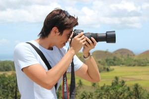 Billy Shooting Canon SLR